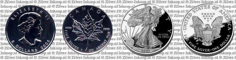 Zilveren 1 Oz Munten
