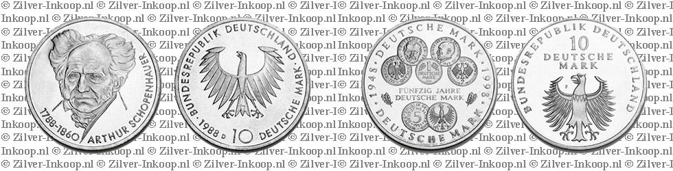Zilveren Duitse Marken