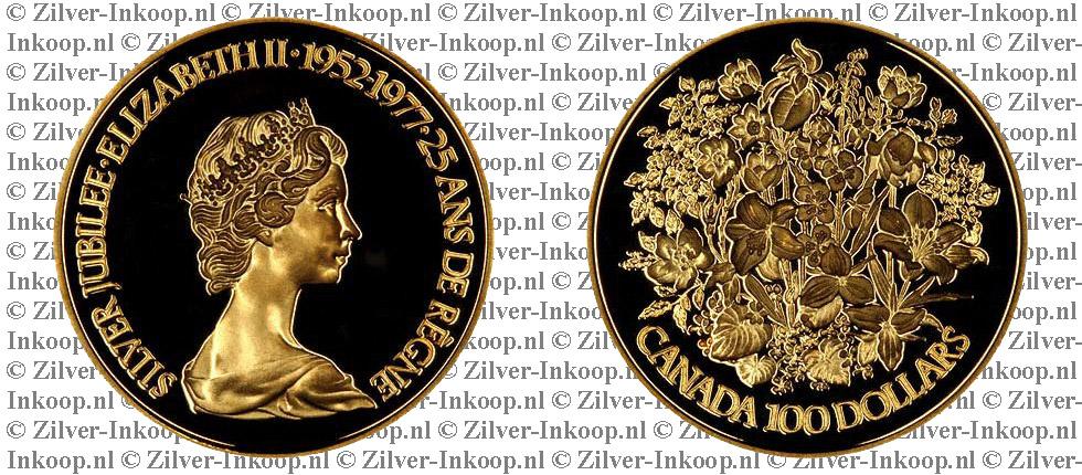 Canadese Gouden 100 Dollar Waarde Koers Gouden 100
