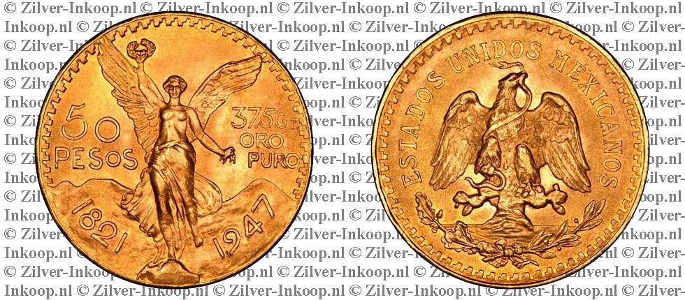 Gouden Mexicaanse 50 Pesos