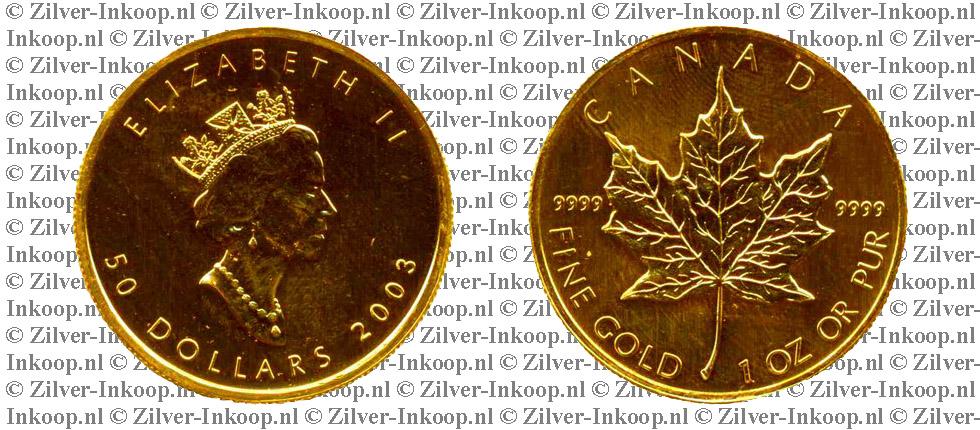 Gouden Maple Leafs Waarde Koers Gouden Canadian Maple