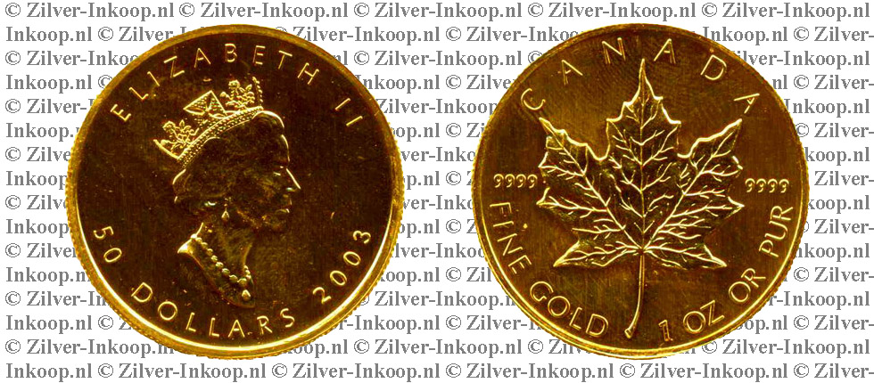 Gouden Maple Leaf Canada