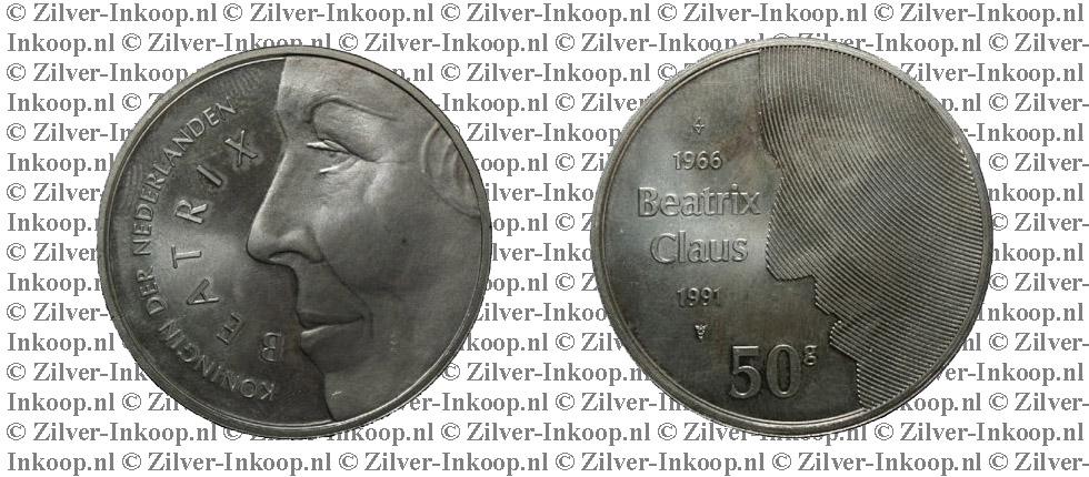 Zilveren 50 Gulden Munt